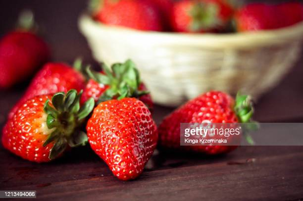 strawberries - dessert stock pictures, royalty-free photos & images