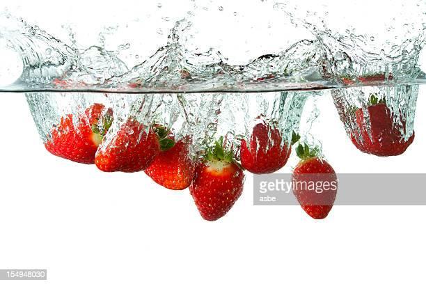 Strawberries Splashing