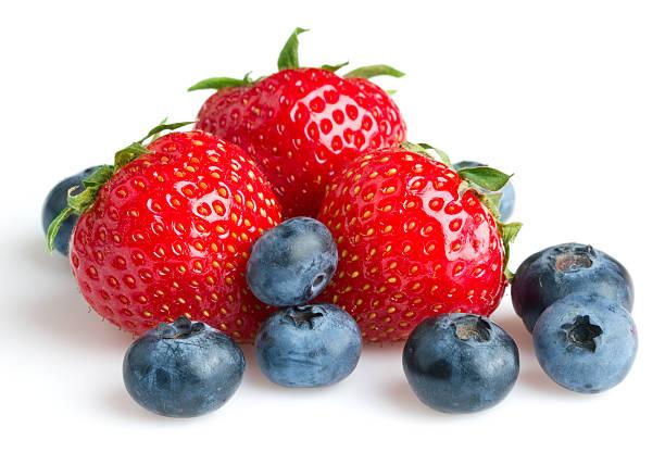 strawberry and blueberry - 藍莓 個照片及圖片檔