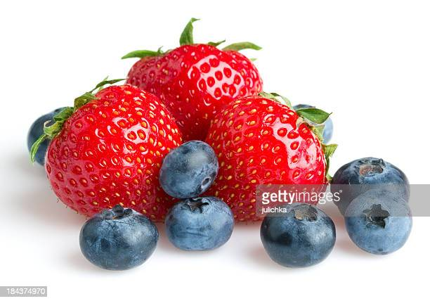 Strawberry and blueberry