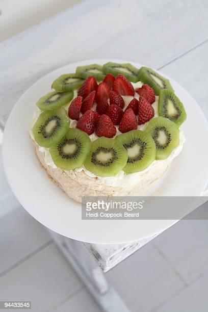 Strawberry and  Kiwi cake