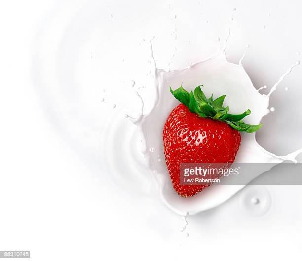 Strawberry and milk splash