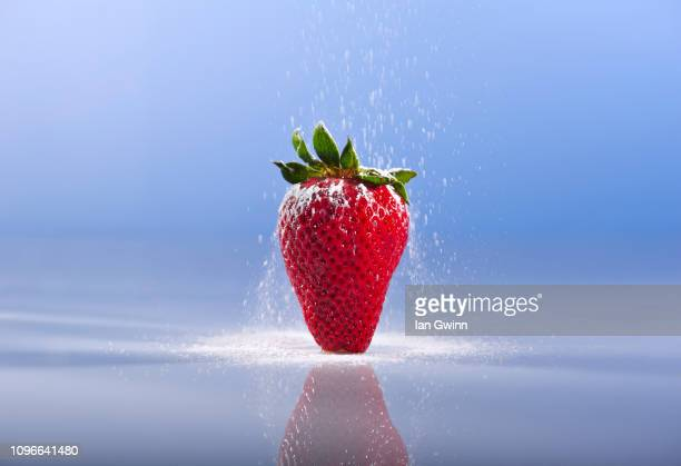 strawberry and sugar - ian gwinn stock photos and pictures