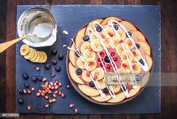 Strawberry Banana Mandala Smoothie Bowl