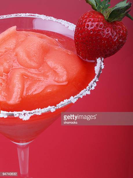 Strawberry Blended Drink with Sugar Rim