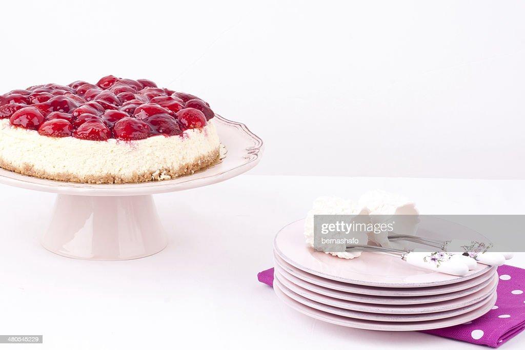 strawberry cheesecake : Stock Photo