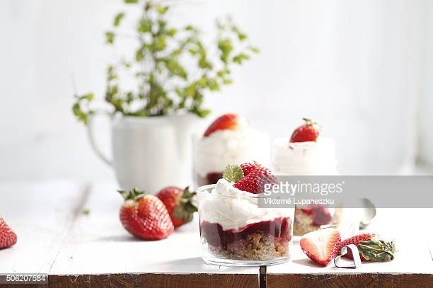 Strawberry cheesecake with a cup