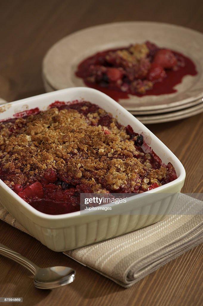 Strawberry cobbler : Stock Photo