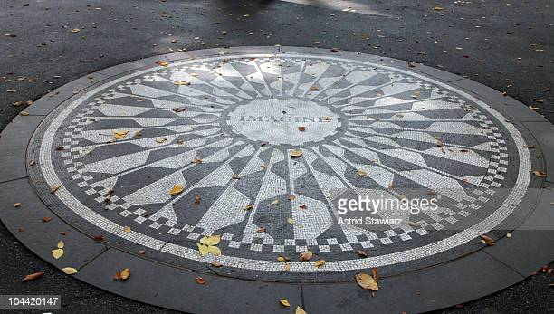Strawberry Fields is seen after an announcement for a special screening of LENNONYC at Strawberry Fields in Central Park on September 24 2010 in New...