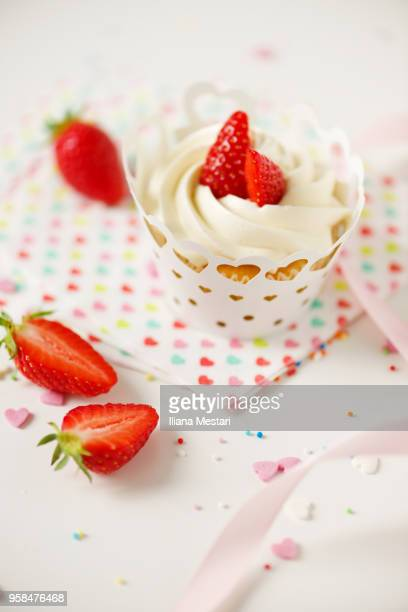 Strawberry home made cupcakes
