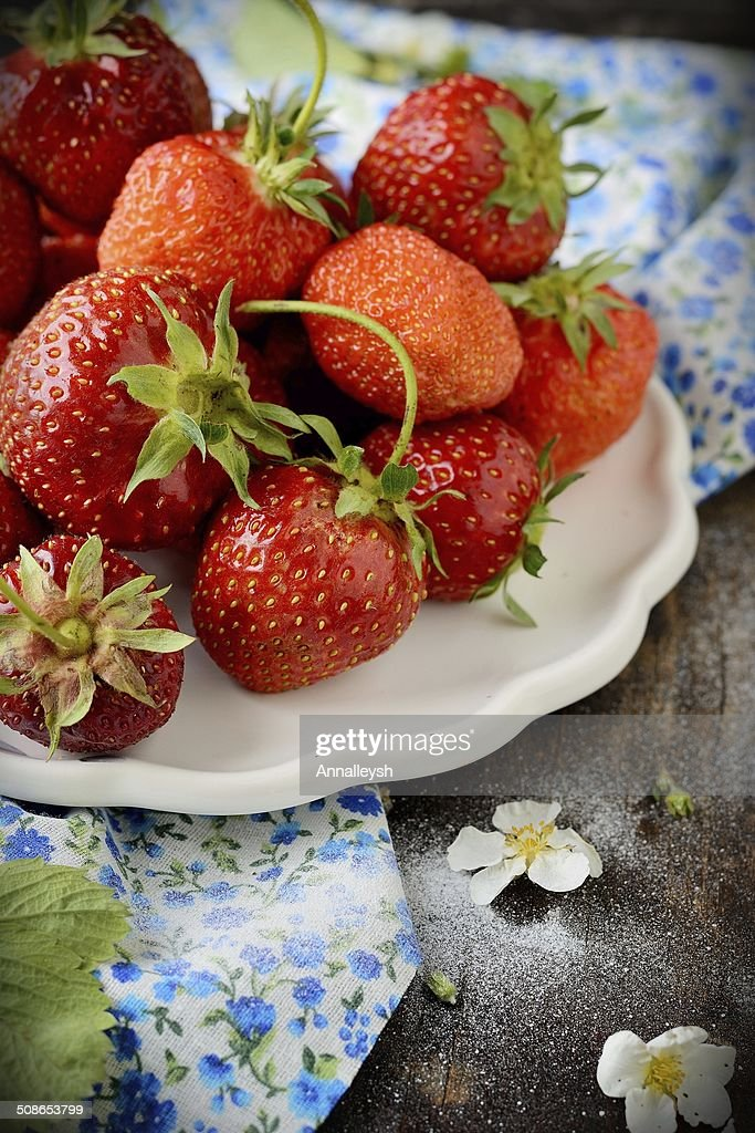 Strawberry in a Bowl : Stock Photo