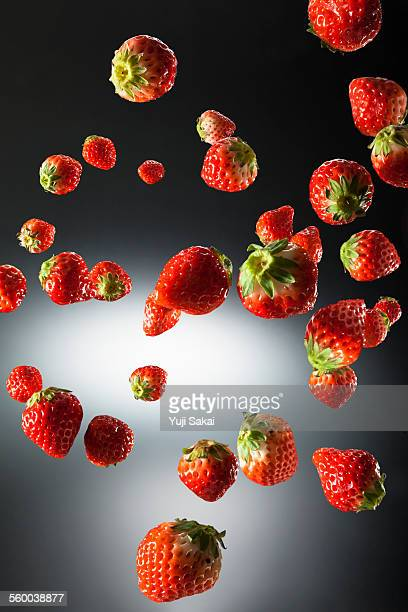 Strawberry in the air