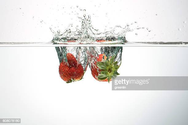 Strawberry into water