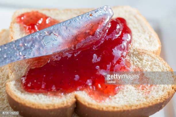 Strawberry Jelly on white Bread