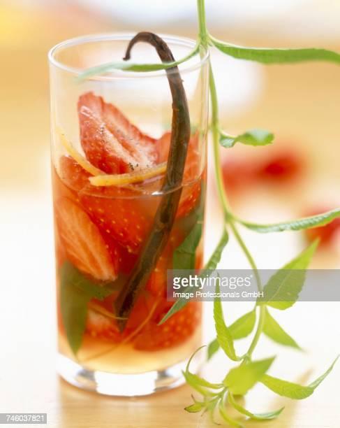 strawberry, lemon, vanilla and verbena soup