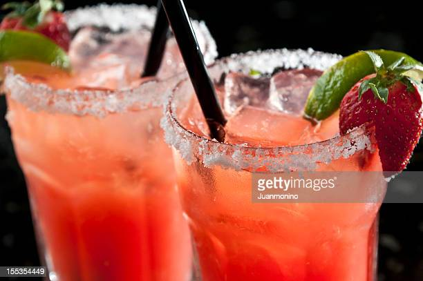 strawberry margaritas - margarita stock pictures, royalty-free photos & images