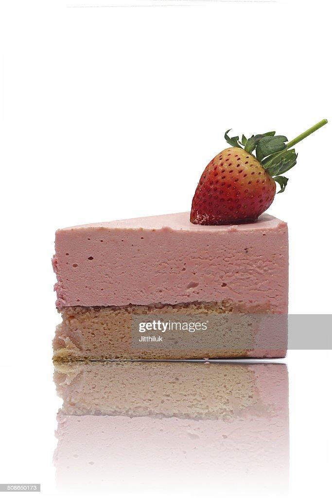 Strawberry mousse cake : Stock Photo