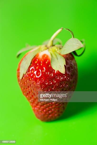 Strawberry on Green
