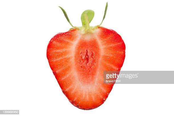 strawberry - cross section stock pictures, royalty-free photos & images