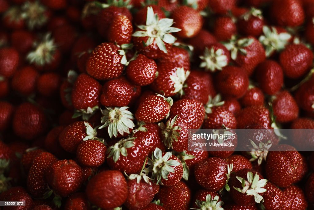 Strawberry punnet : Stock Photo