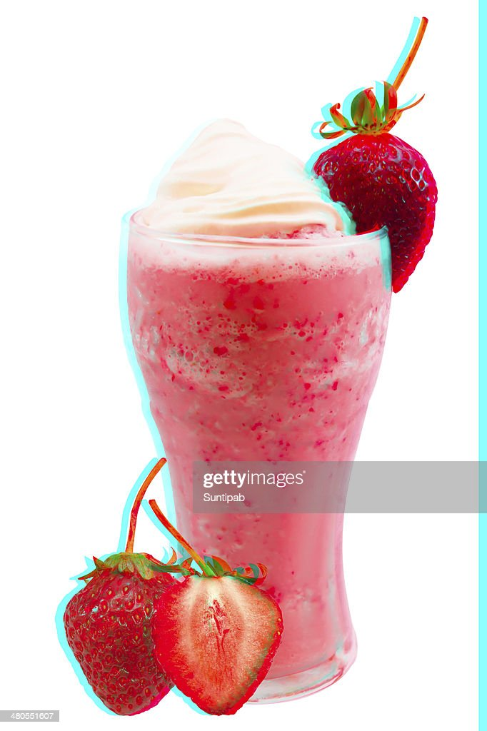 Strawberry smoothie : Stock Photo