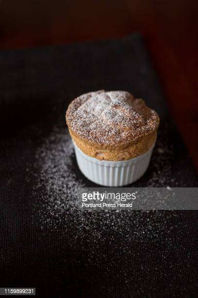 A strawberry soufflé made with a puree using overripe berries and dusted with powdered sugar on Thursday July 11 2019