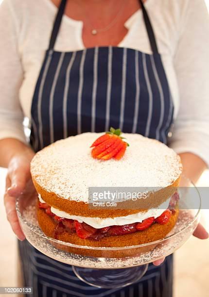 Strawberry Sponge Cake