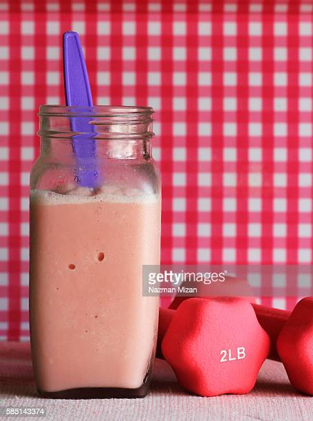 Strawberry squeeze smoothies for energy booster before a workout session.