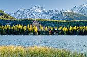 Strbske Pleso - Mountain lake in morning
