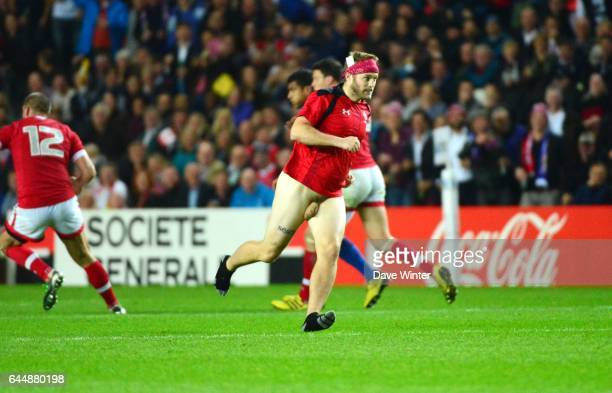 Streaker France / Canada Coupe du Monde de rugby 2015 Milton Keynes Photo Dave Winter / Icon Sport