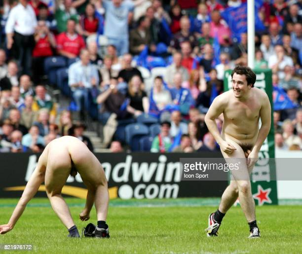 Streaker Stade Francais / Toulouse Finale H cup 2005 Murrayfield Stadium