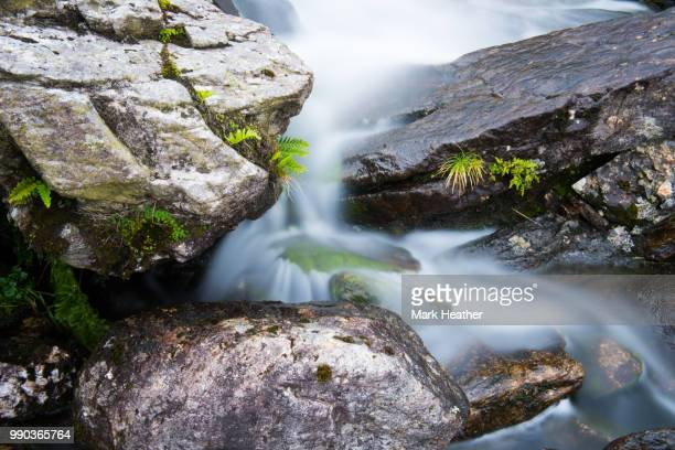 stream rocks - heather brooke ストックフォトと画像