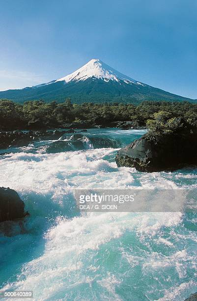 Stream with the Osorno in the background Llanquihue Province Chile