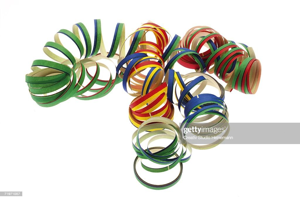 Streamers, elevated view, close-up : Stock Photo