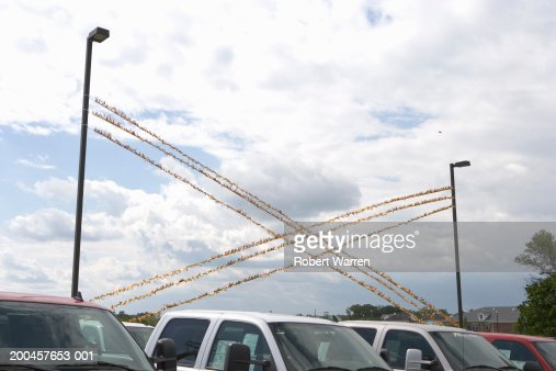 Streamers In Car Dealership High Section Stock Photo Getty Images