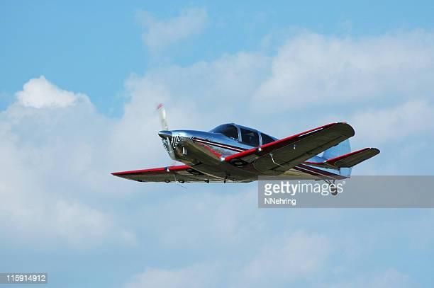 streamlined airplane Globe Swift flying