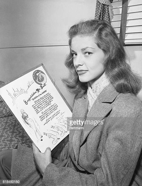 11/1/1944 Streamlined Lauren Bacall speeds to stardom in her screen debut as Humphrey Bogart's love interest in Warner Bros To Have and to Have Not...