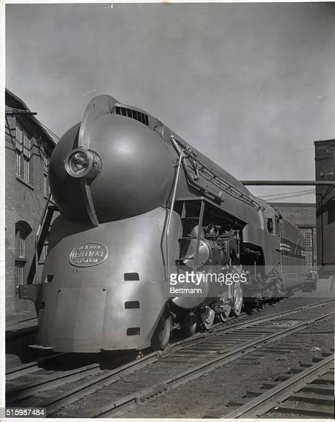 Streamlined locomotive built ca 1930 and streamlined in 1939 for service on the New York Central's Twentieth Century Limited Photo ca 1940s