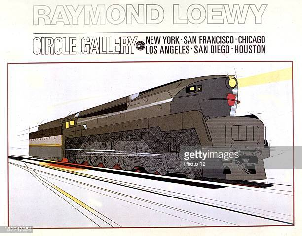 Streamlined locomotive by Raymond Loewy for the Pennsylvania Railroad ca 19381939 United States Private collection