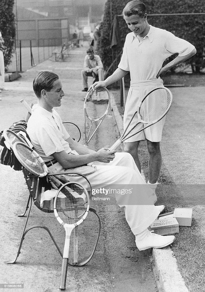 Tennis Stars Von Cramm Seated And H W Austin Pictures Getty Images