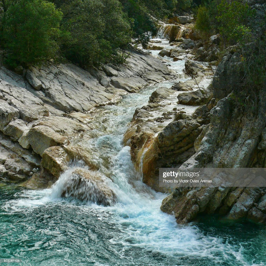 Streams in the forest of the Natural Park of Cazorla in Jaen, Andalusia, Spain : Stock Photo