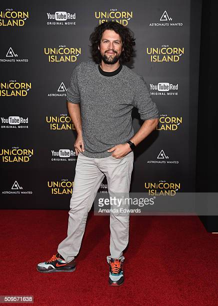 Streamy Awards Founder Drew Baldwin arrives at the premiere of A Trip To Unicorn Island at TCL Chinese Theatre on February 10 2016 in Hollywood...