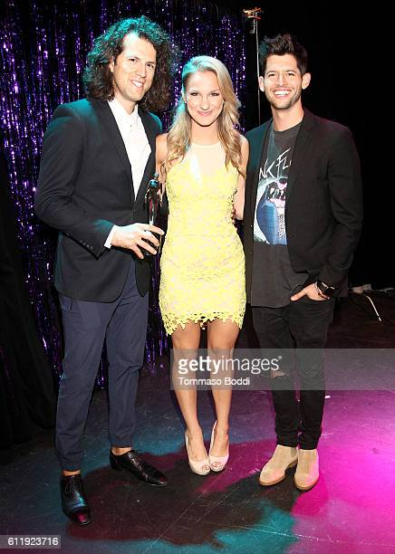 Streamy Awards founder Drew Baldwin host Chelsea Briggs and host Hunter March attend the official Streamy Awards nominee reception at YouTube Space...