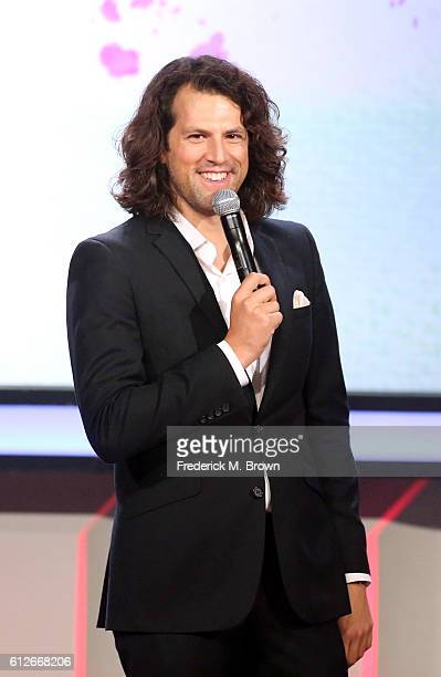Streamy Awards founder Drew Baldwin speaksa onstage during the 6th annual Streamy Awards hosted by King Bach and live streamed on YouTube at The...