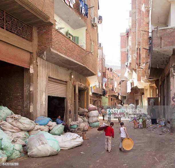 Streef of the Zabaleen area Cairo Egypt