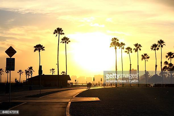 street against sky during sunset - long beach california stock photos and pictures
