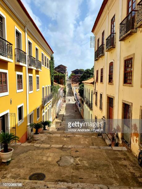 street amidst buildings in town - sao luis stock pictures, royalty-free photos & images