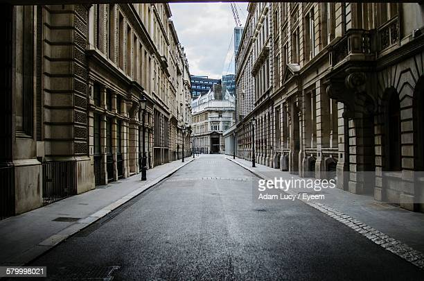street amidst buildings - street stock pictures, royalty-free photos & images