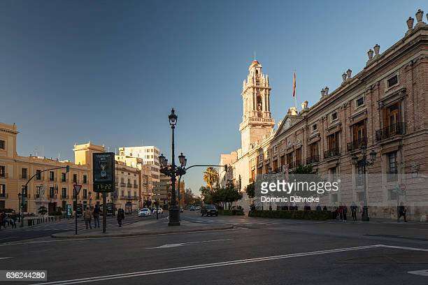 Street and building in the center of Valencia city (Valencia. Spain)