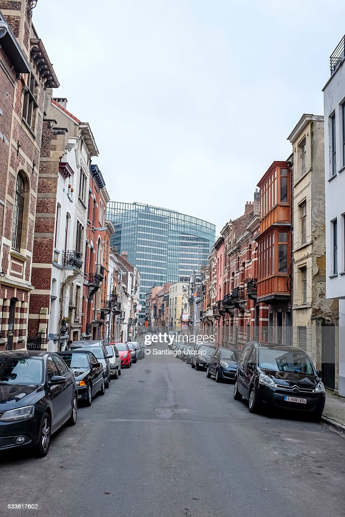 Street around the European Commission : Foto stock